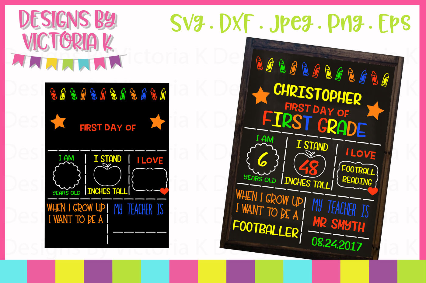 Back To School Board Chalkboard Style Svg File Svg Dxf Eps