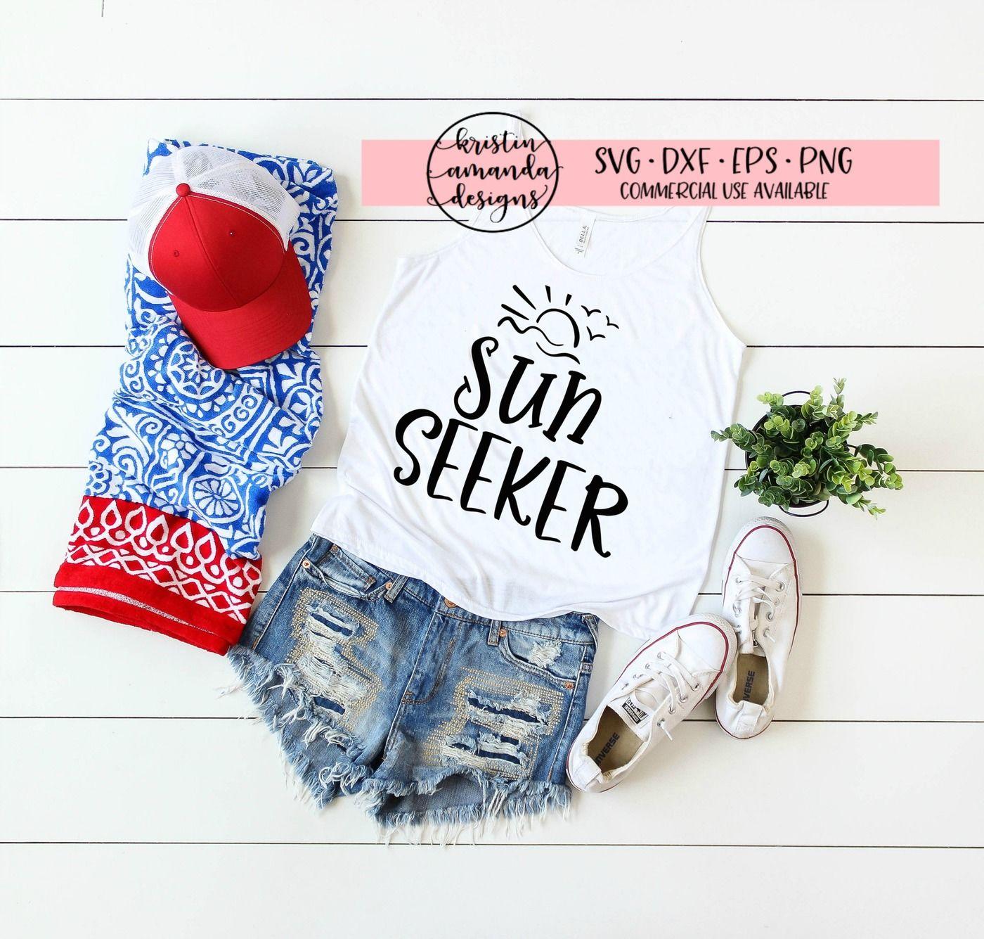 Sun Seeker Summer Svg Dxf Eps Png Cut File Cricut Silhouette
