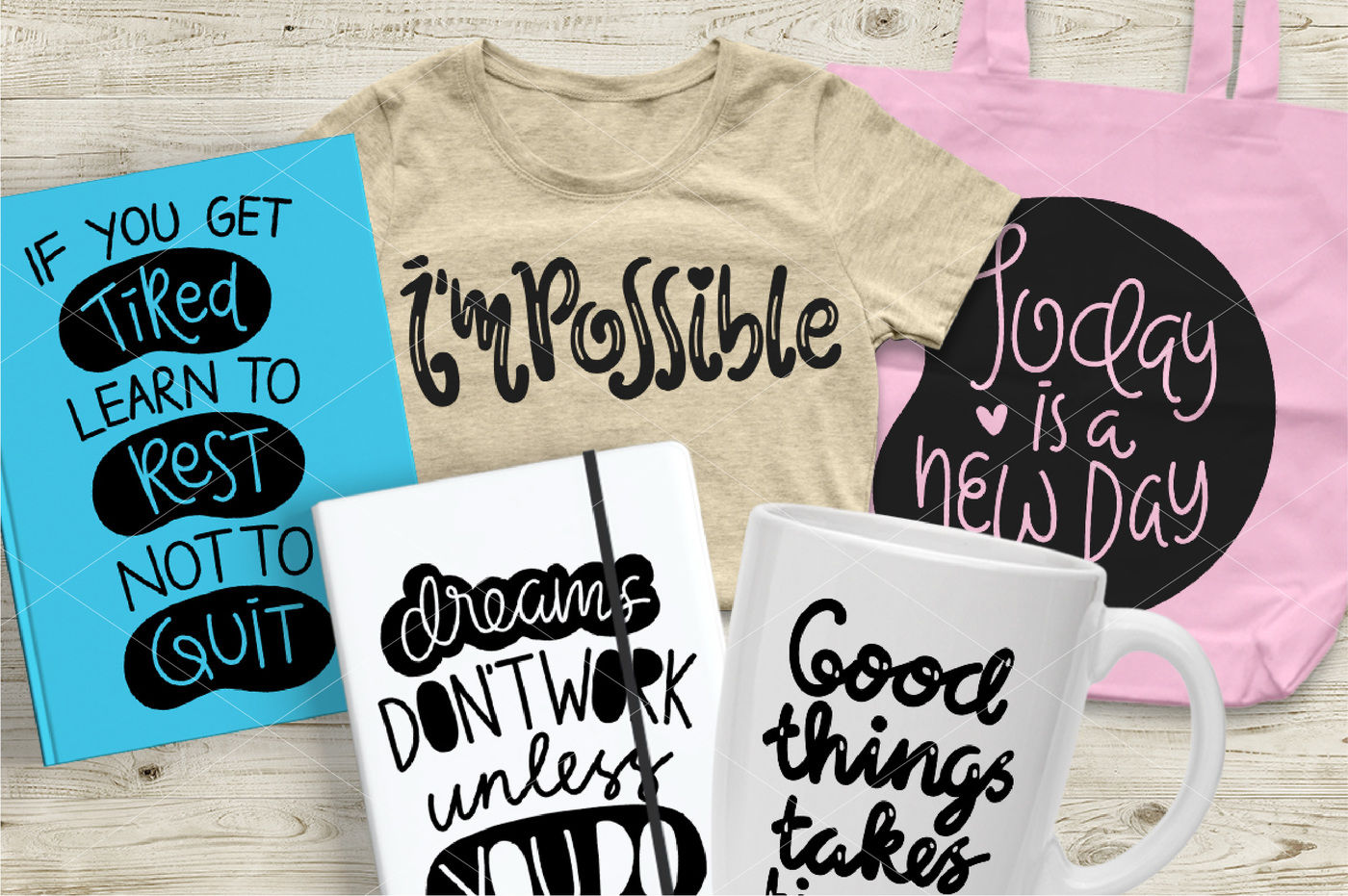 Motivational Quotes Dfx Eps Png And Svg By Olyve Design