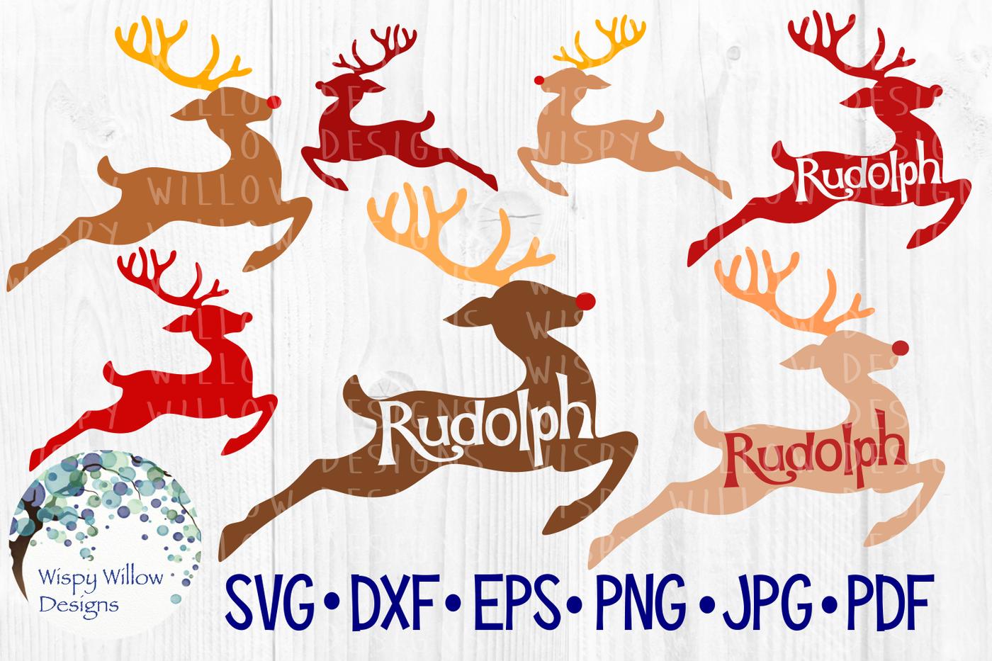 Rudolph Reindeer Christmas Bundle Svg Dxf Eps Png Jpg Pdf By Wispy