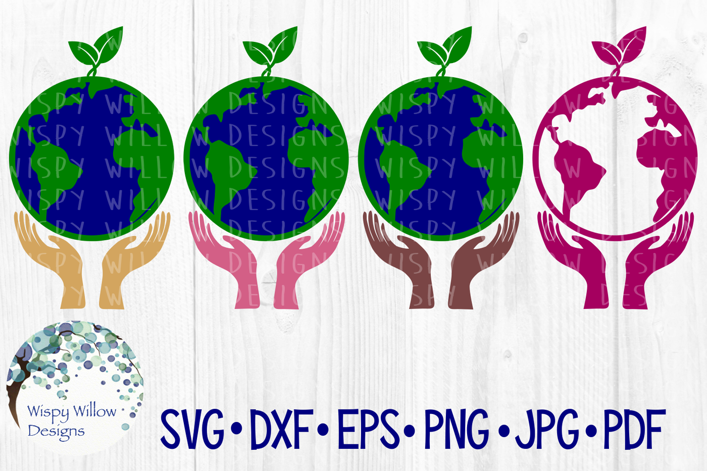 Earth Hands Grow Sprout Svg Dxf Eps Png Jpg Pdf By Wispy Willow
