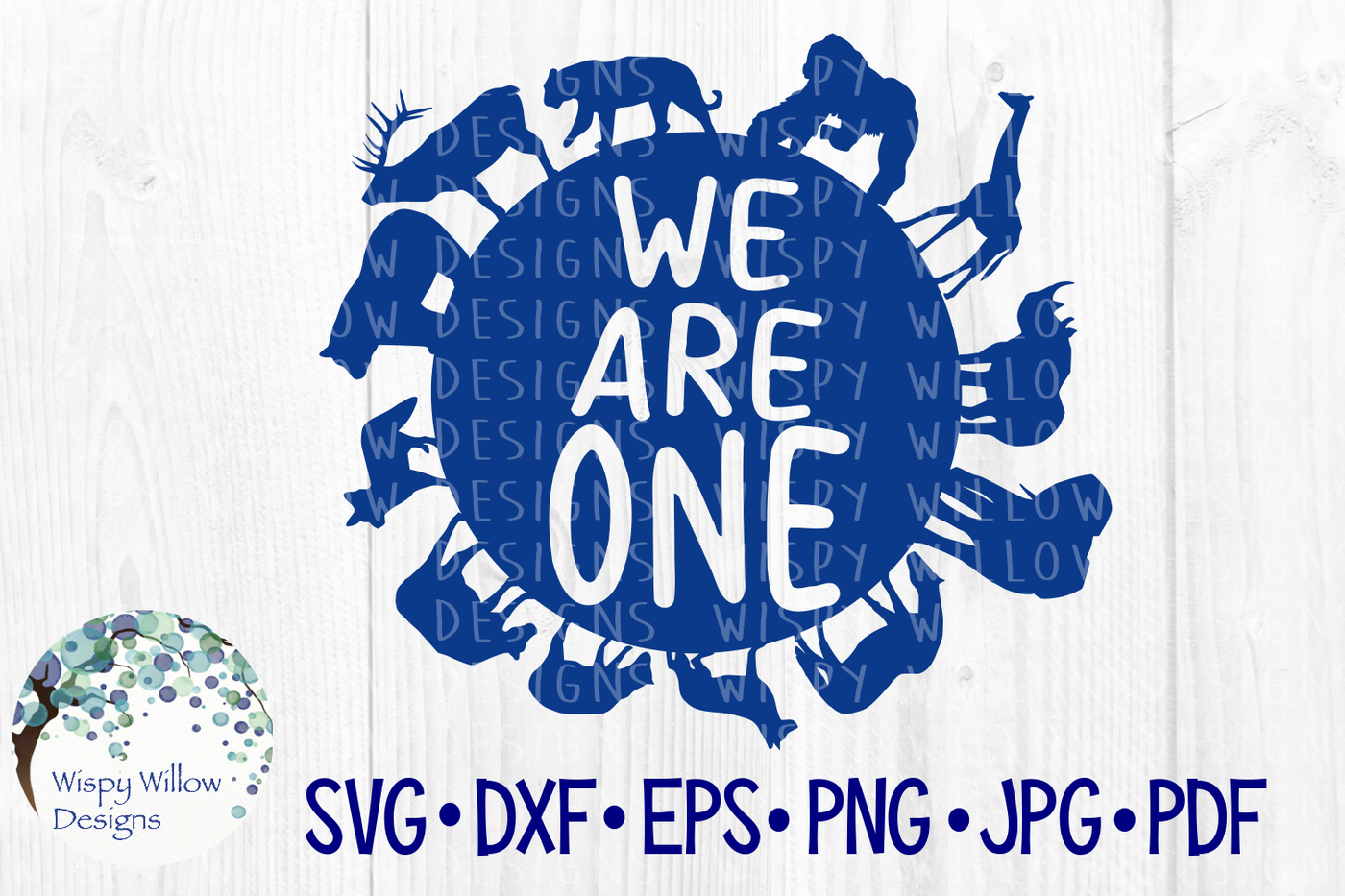 We Are One Earth Planet Animals Svg Dxf Eps Png Jpg Pdf By Wispy
