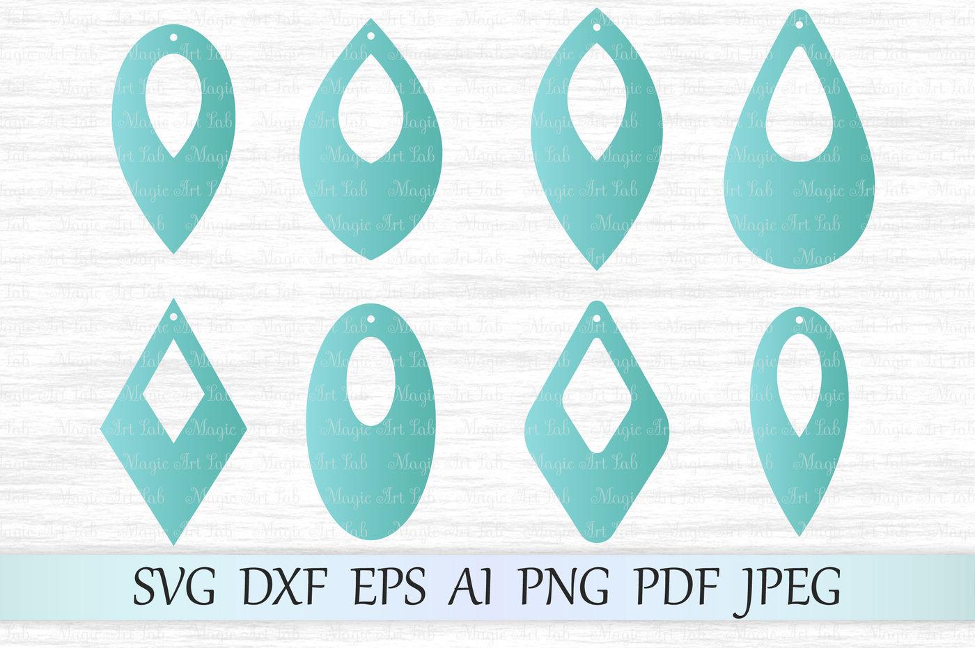 Earrings Svg Earrings Template Svg Earrings Cut File Earrings