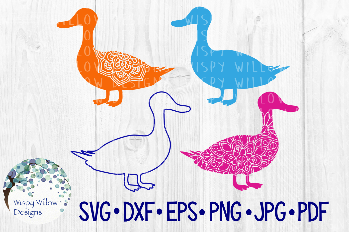 Duck Bundle Floral Animal Mandala Svg Dxf Eps Png Jpg Pdf By