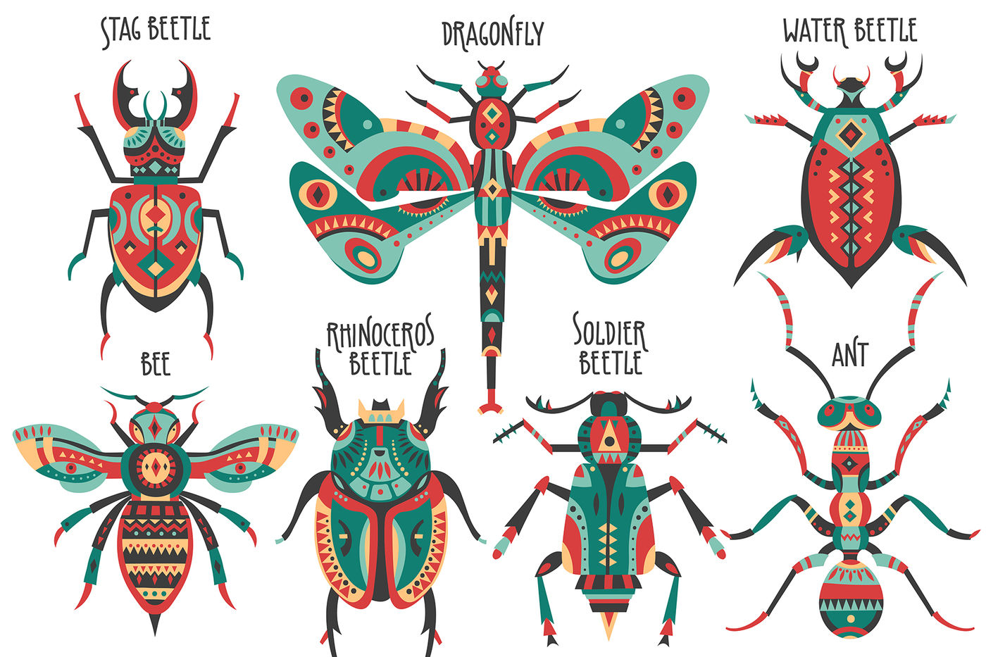 Insectarium Art Collection By Struvictory Art Thehungryjpeg Com