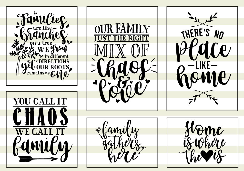 Family Love Quote Svg Cut Files Bundle By Caluya Design Thehungryjpeg Com