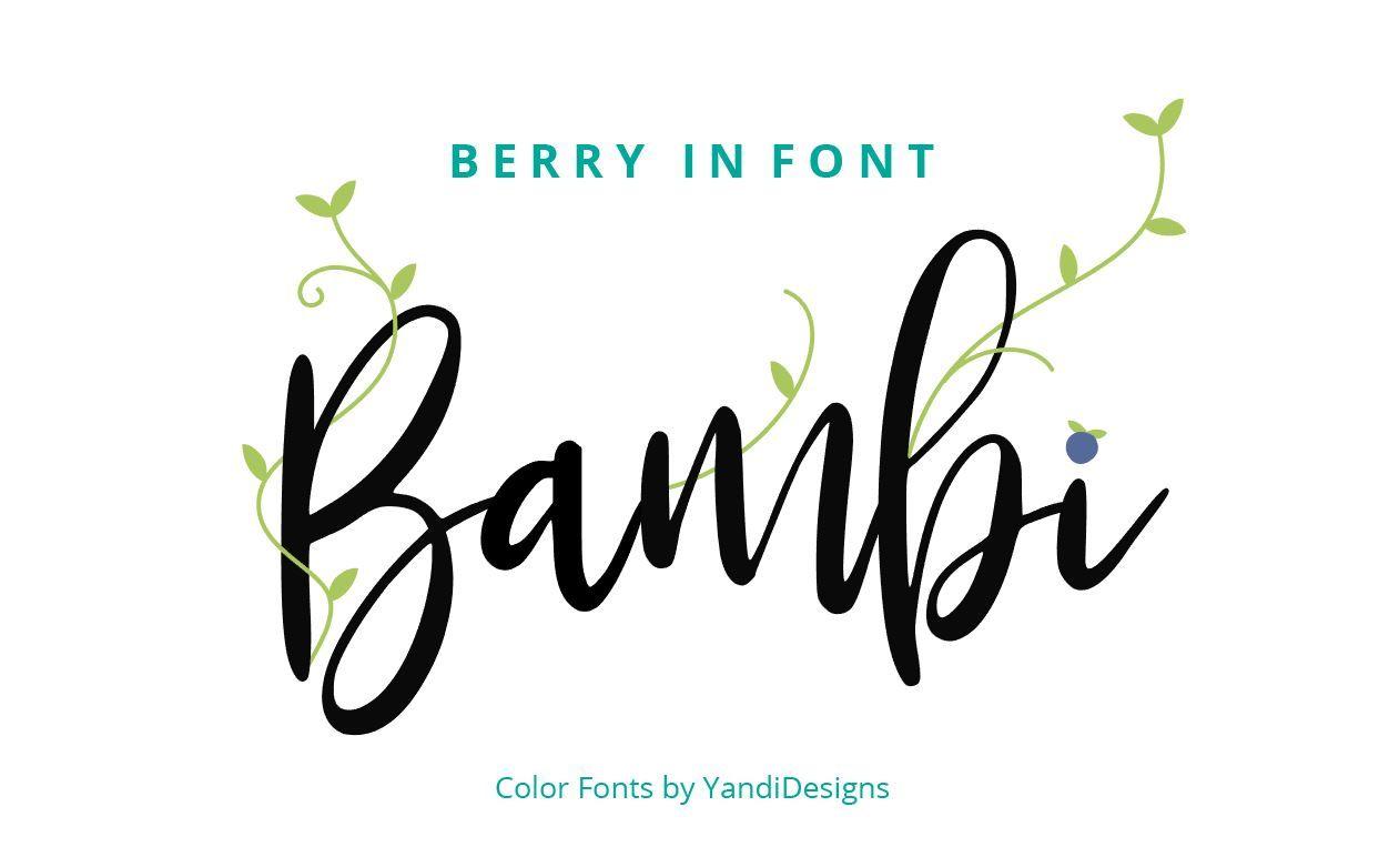 Bambi Font + Extras By YandiDesigns | TheHungryJPEG com