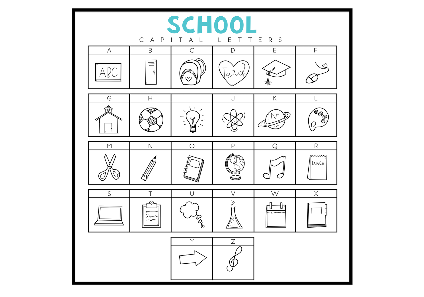 You Gon Learn TTF TeachingSchool A Hand-drawn Doodle Font