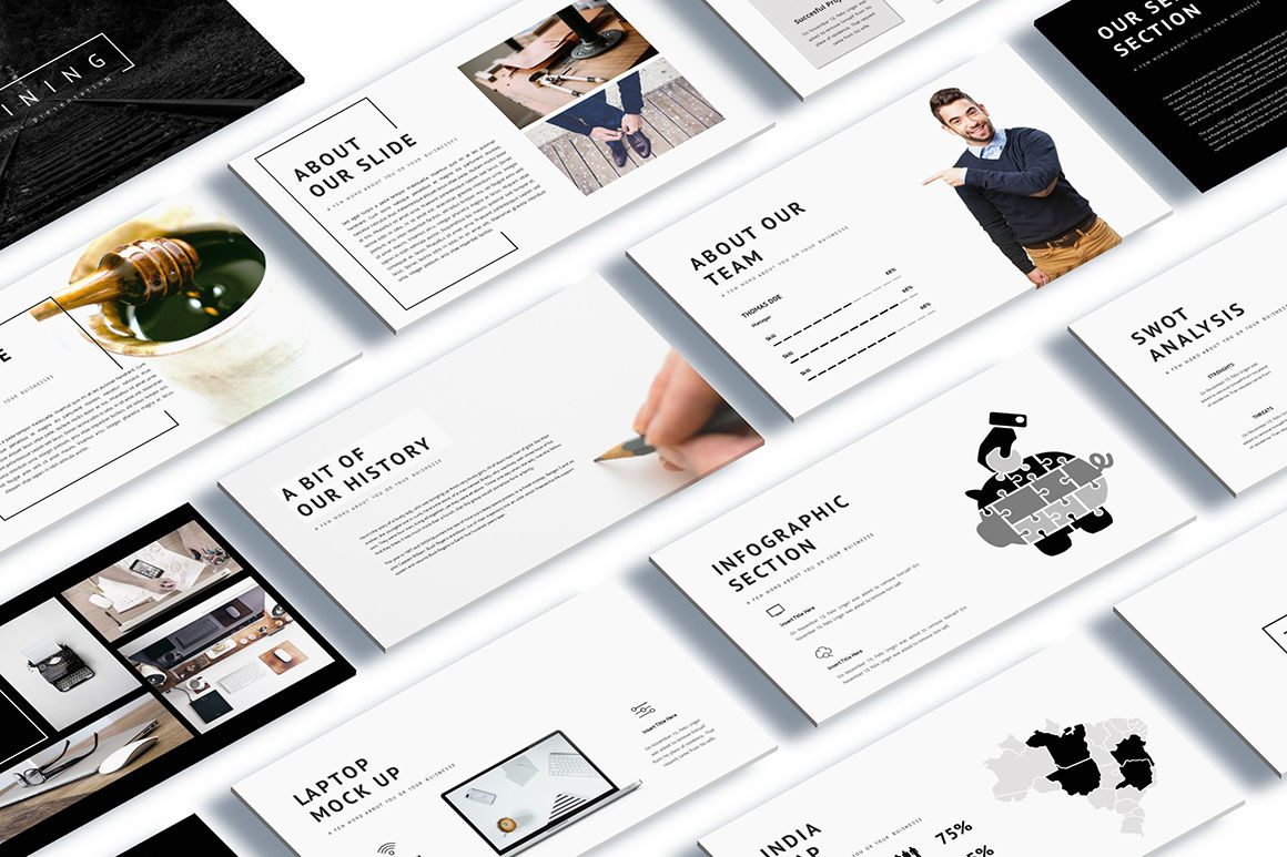 Shinning - Creative Google Slides Template By Incoolsstokie