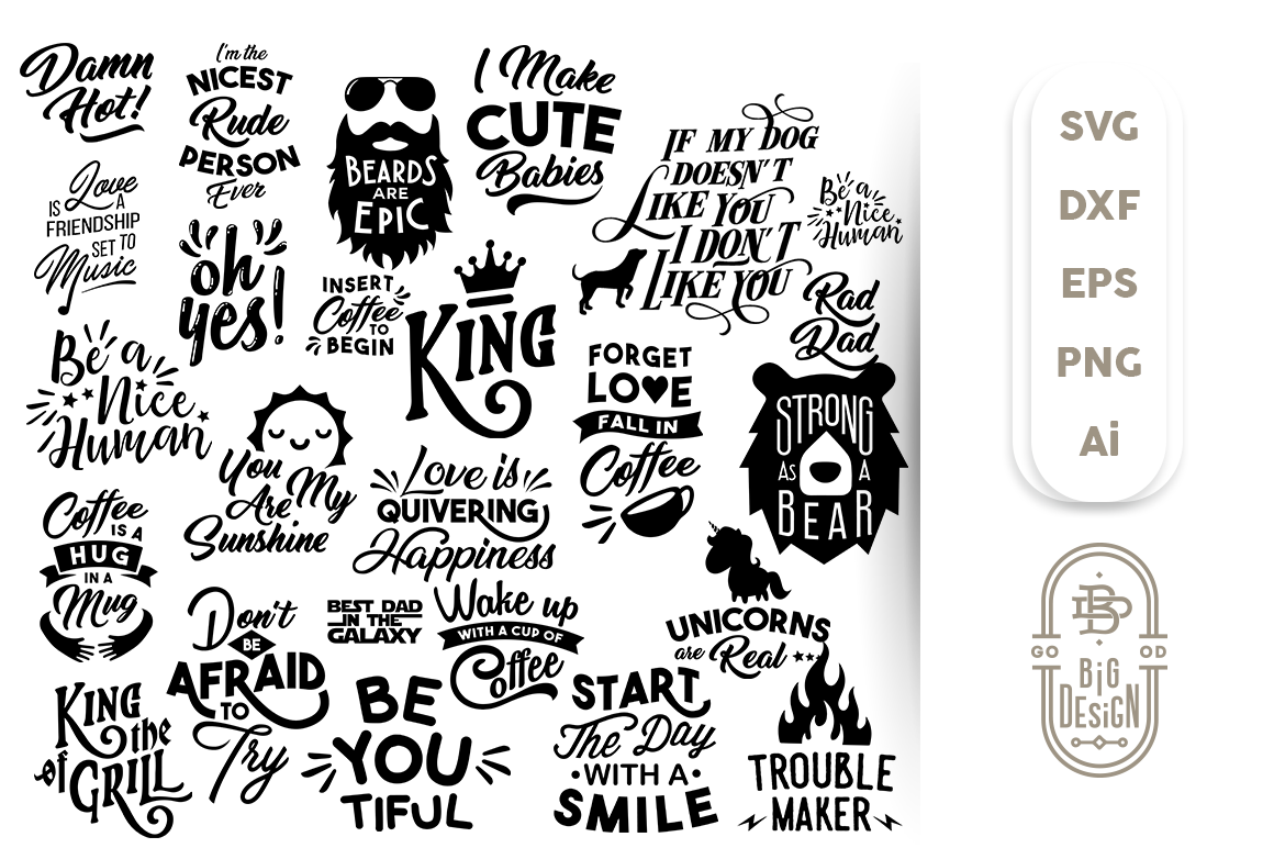 The Big Svg Bundle All The Content Of The Shop By Big Design