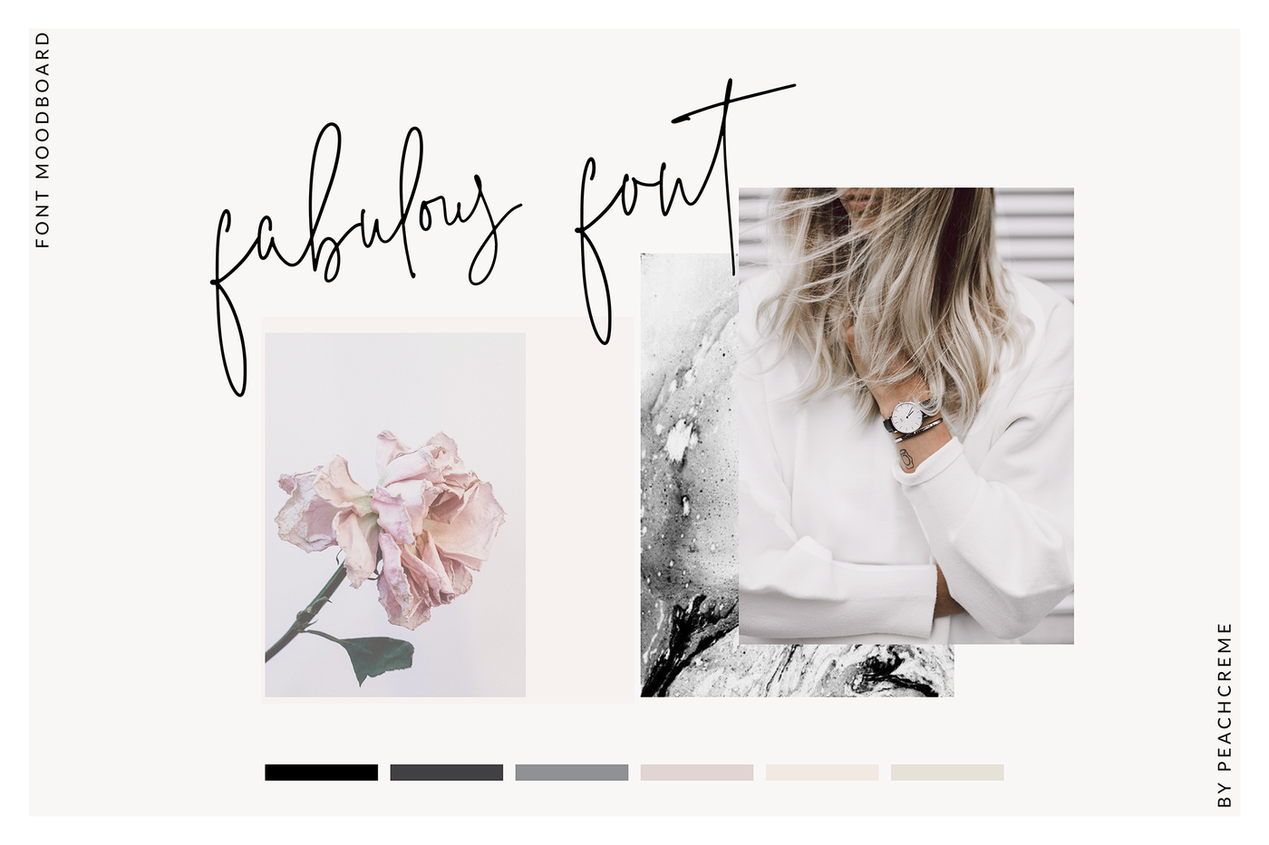 The Styled Edit- Chic Ligature Font By PeachCreme