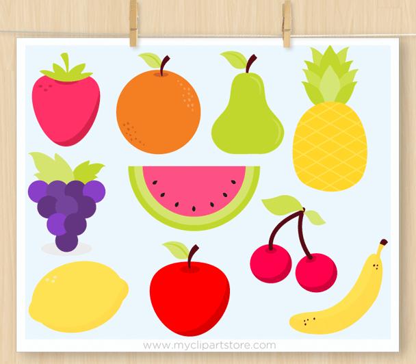 Cute Kawaii Fruit Svg Vector Clipart By Myclipartstore Thehungryjpeg Com