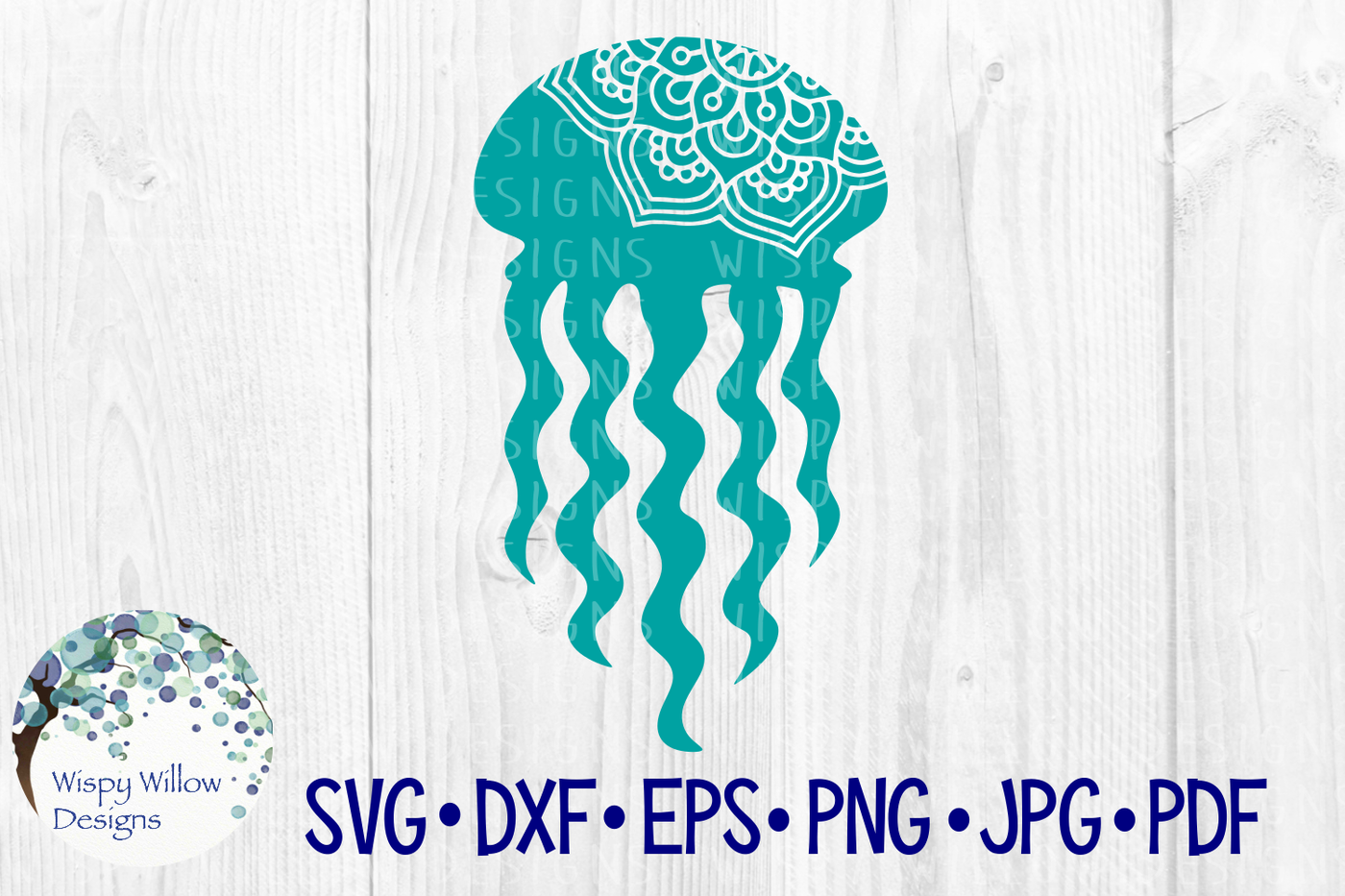 Jellyfish Mandala Summer Beach Svg Dxf Eps Png Jpg Pdf By Wispy
