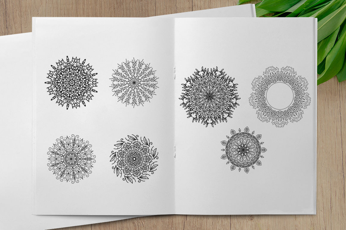 Svg Bundle Hand Drawn Mandala Ornaments By Weape Design