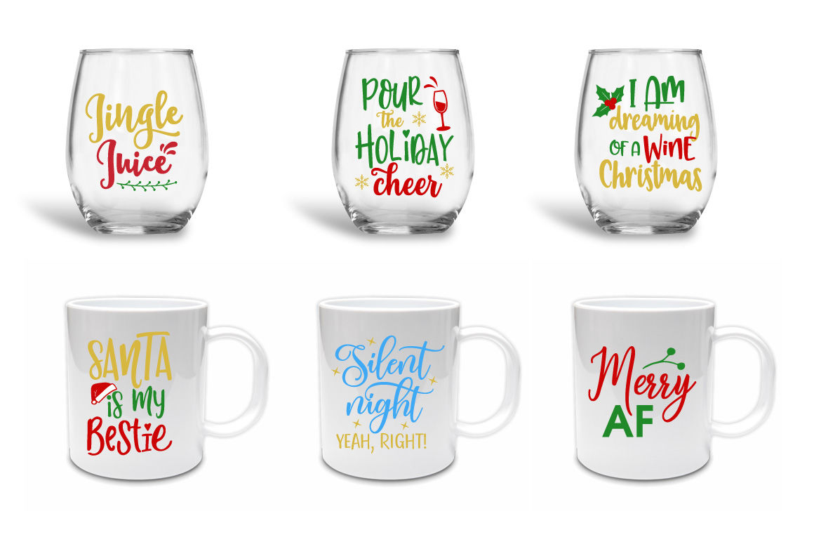 Funny Christmas Quotes Bundle Svg Eps Dxf Png By Craft Pixel Perfect Thehungryjpeg Com