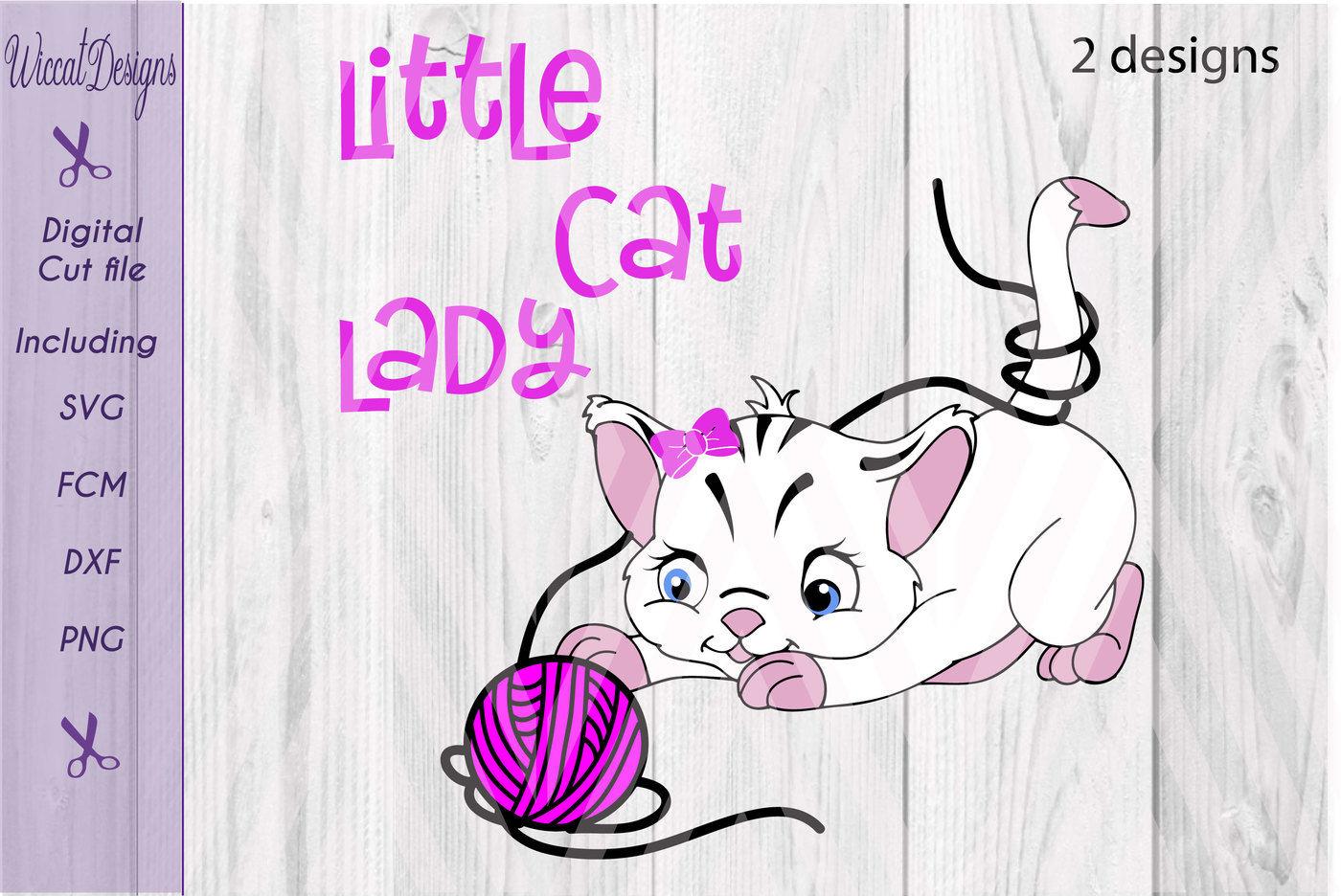 Cat Svg Kitten Svg Little Cat Girl Cat Svg Cute Animal By