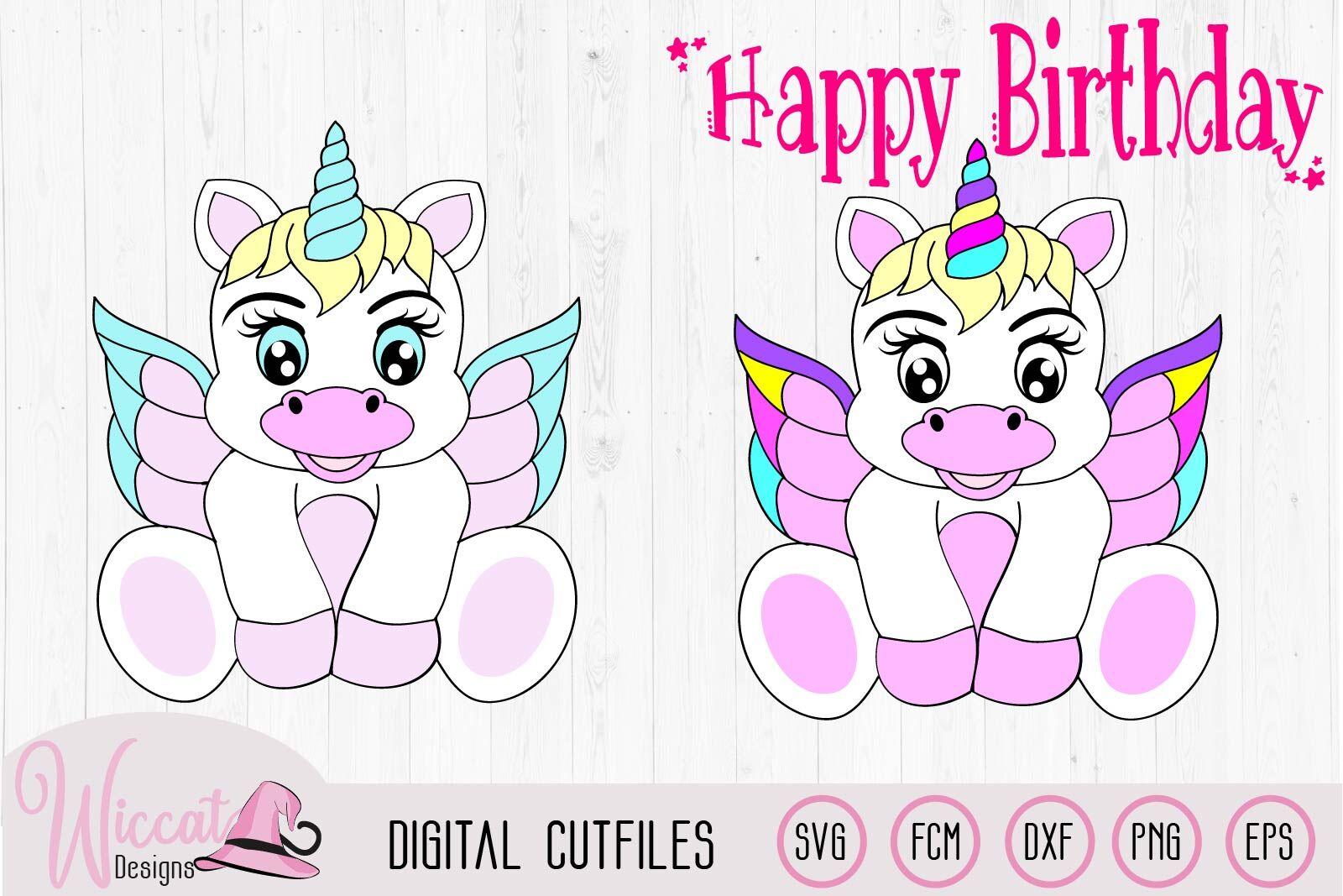 Baby Unicorn Unicorn Wings Svg Baby Svg Birthday Svg Nursery