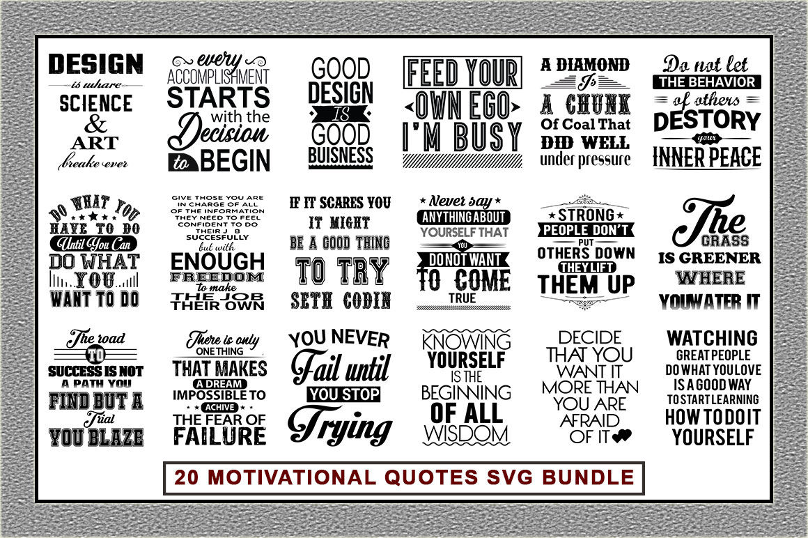 Motivational Quotes Svg Bundle By Teewinkle Thehungryjpeg Com