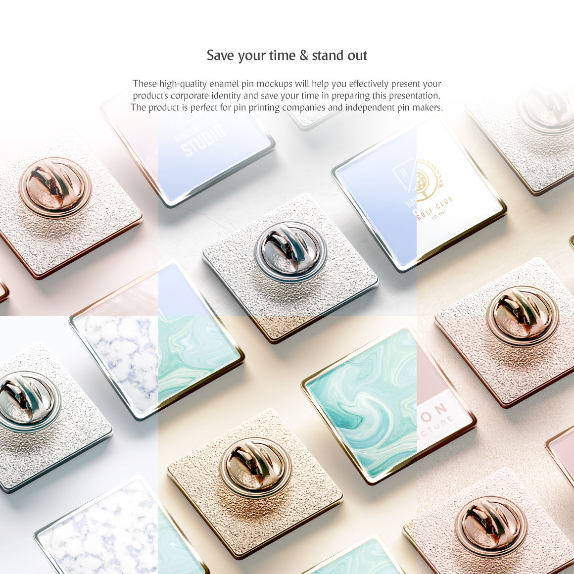 Download Pin Button Mockup Psd Template Yellowimages