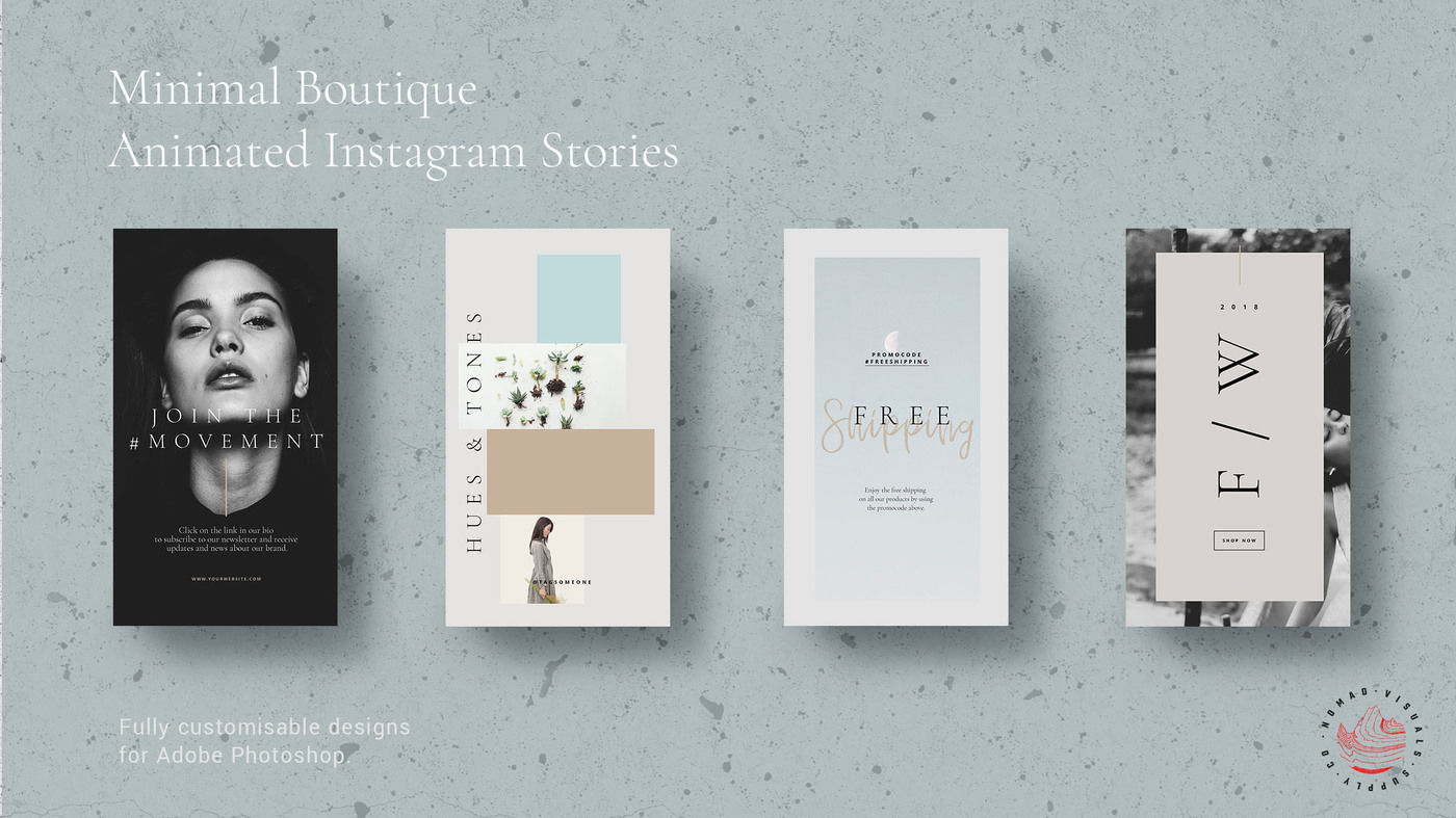 Animated Instagram Stories Templates Minimal Boutique By Nomad