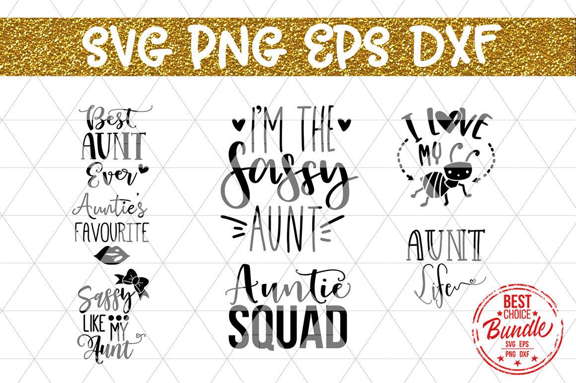 Auntie Svg Bundle Cut Files Svg Eps Dxf Png By Mulia Designs