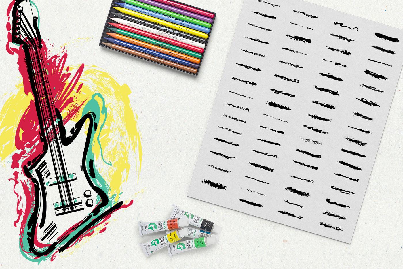 Illustrator grunge brushes By kateja | TheHungryJPEG com