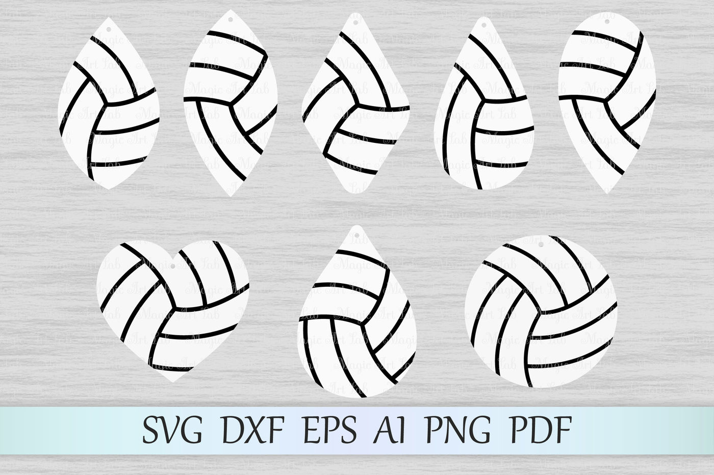 Volleyball Earrings Svg File Sport Earrings Cut File Dxf Png