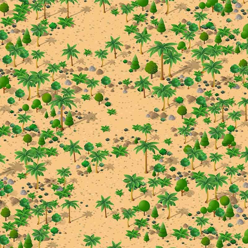 The Isometric Natural Landscape Of Palm Trees By Alexzel