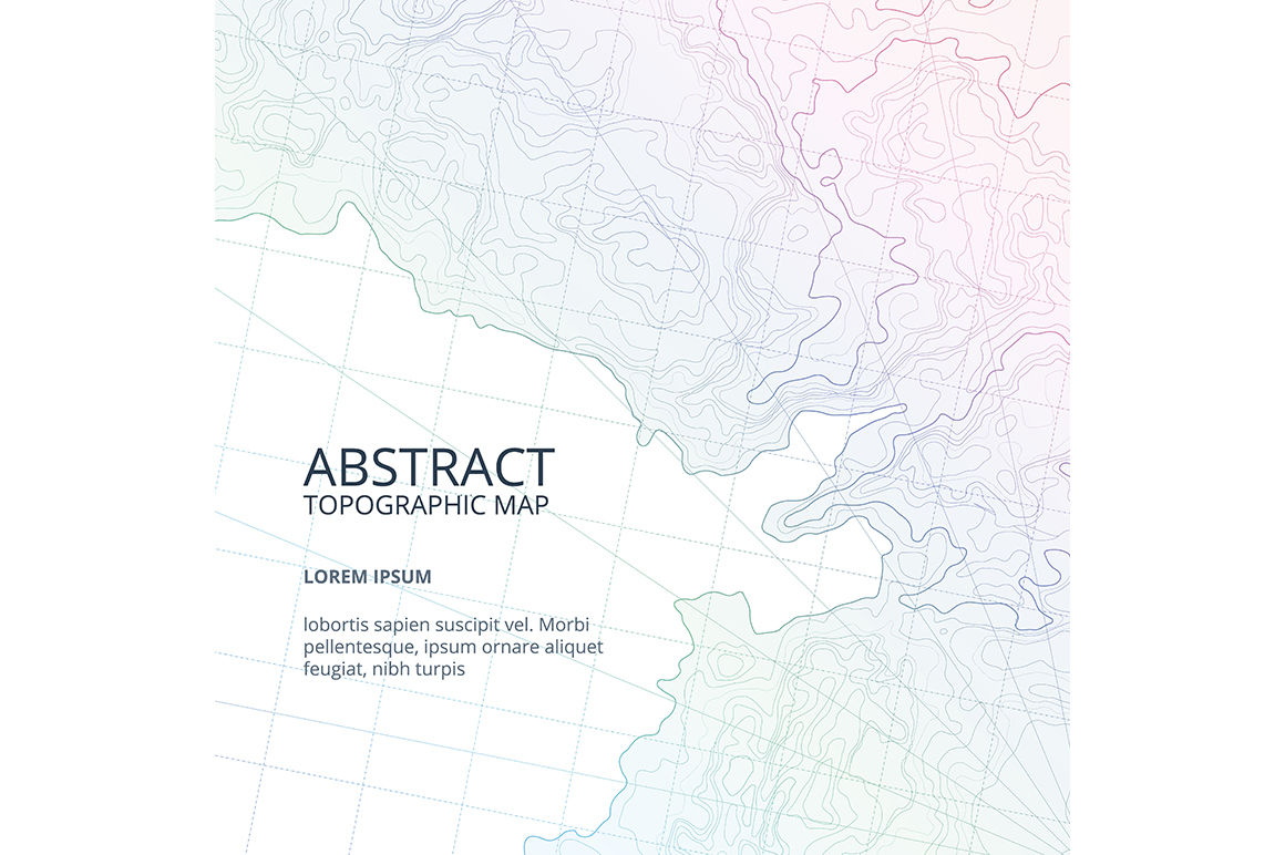 Vector poster design from lines contour topographic map By ...