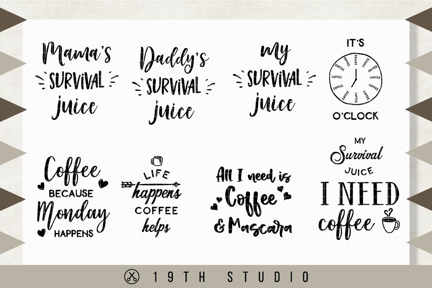 Coffee Svg Bundle M7 By 19th Studio Thehungryjpeg Com