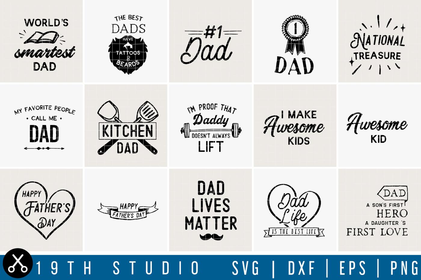 Dad Life Svg Bundle M8 By 19th Studio Thehungryjpeg Com