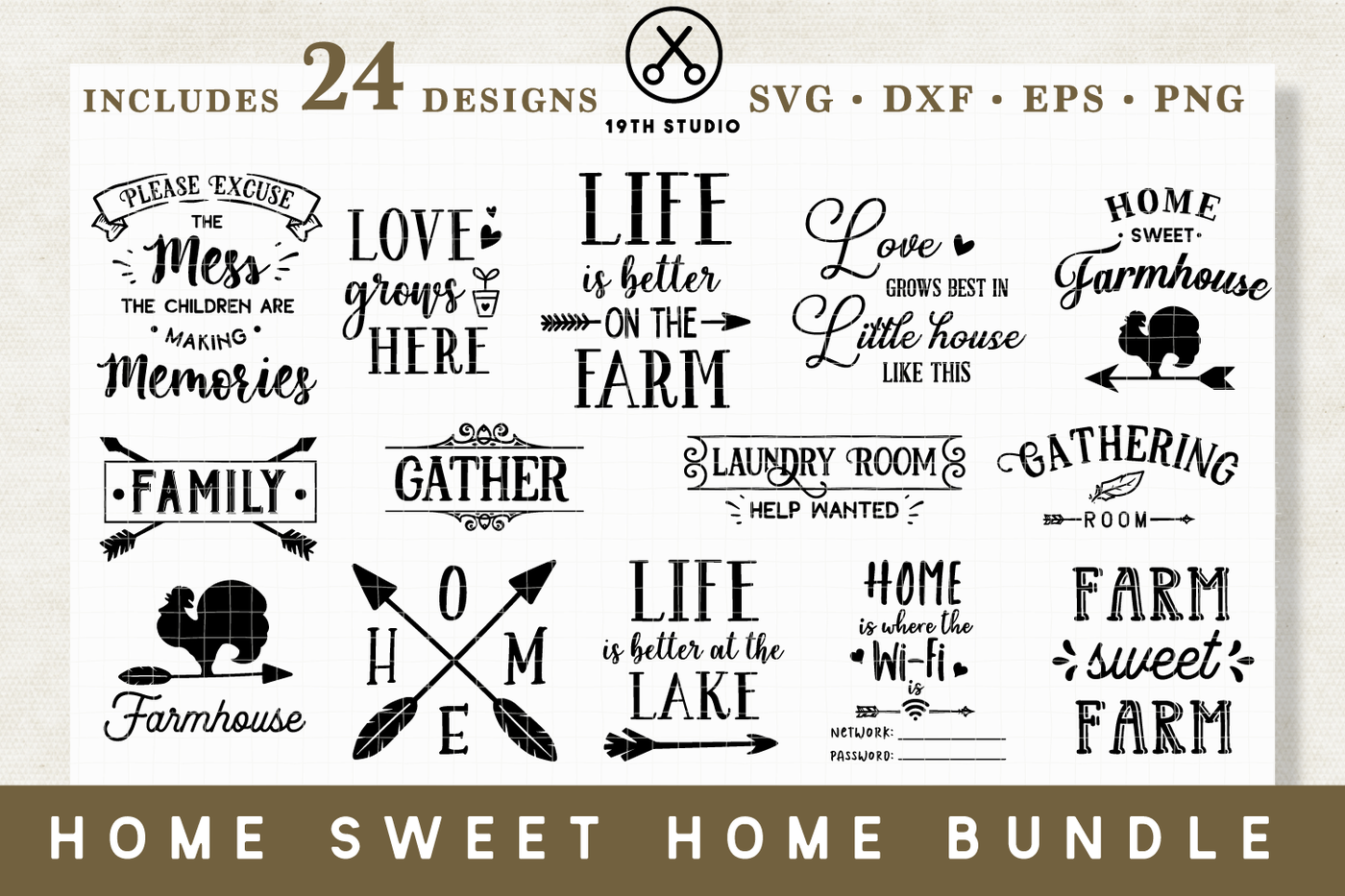 Home Sweet Home Svg Bundle M14 By 19th Studio Thehungryjpeg Com