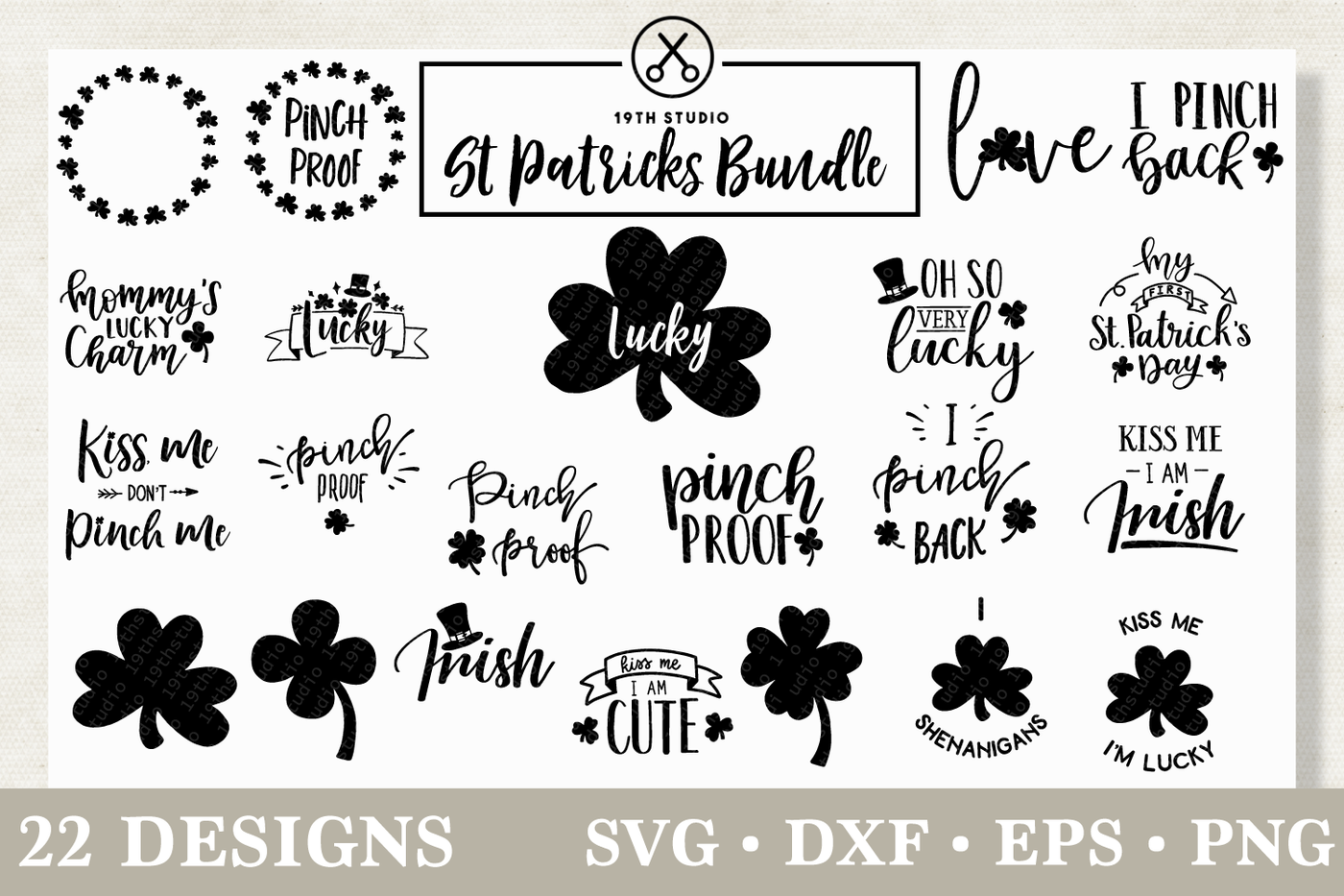 St Patrick S Day Svg Bundle M18 By 19th Studio Thehungryjpeg Com