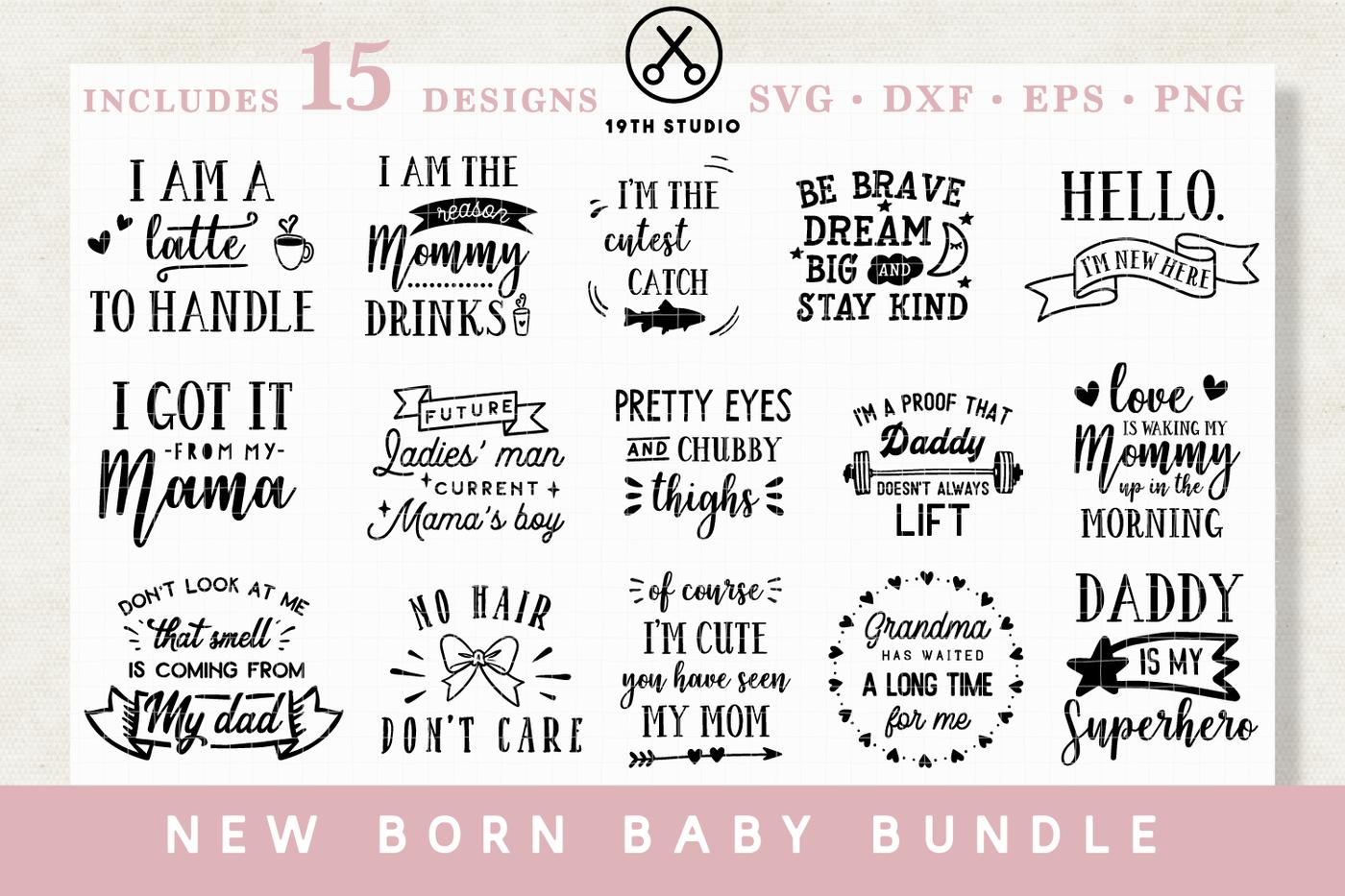 New Born Baby Svg Bundle M20 By 19th Studio Thehungryjpeg Com