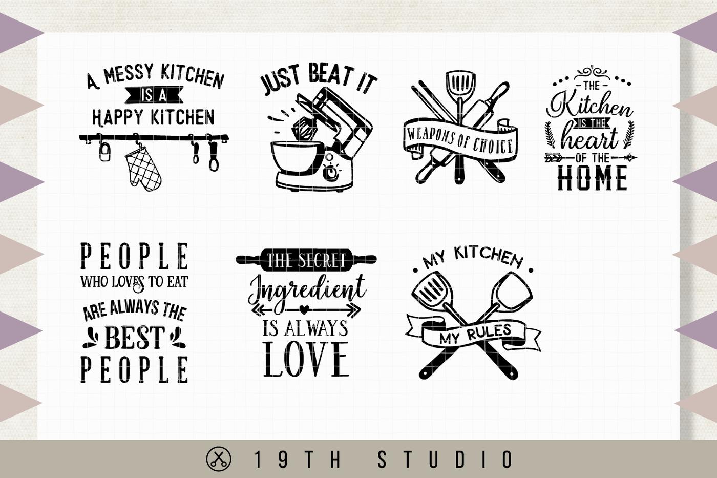 Kitchen Svg Bundle M22 By 19th Studio Thehungryjpeg Com