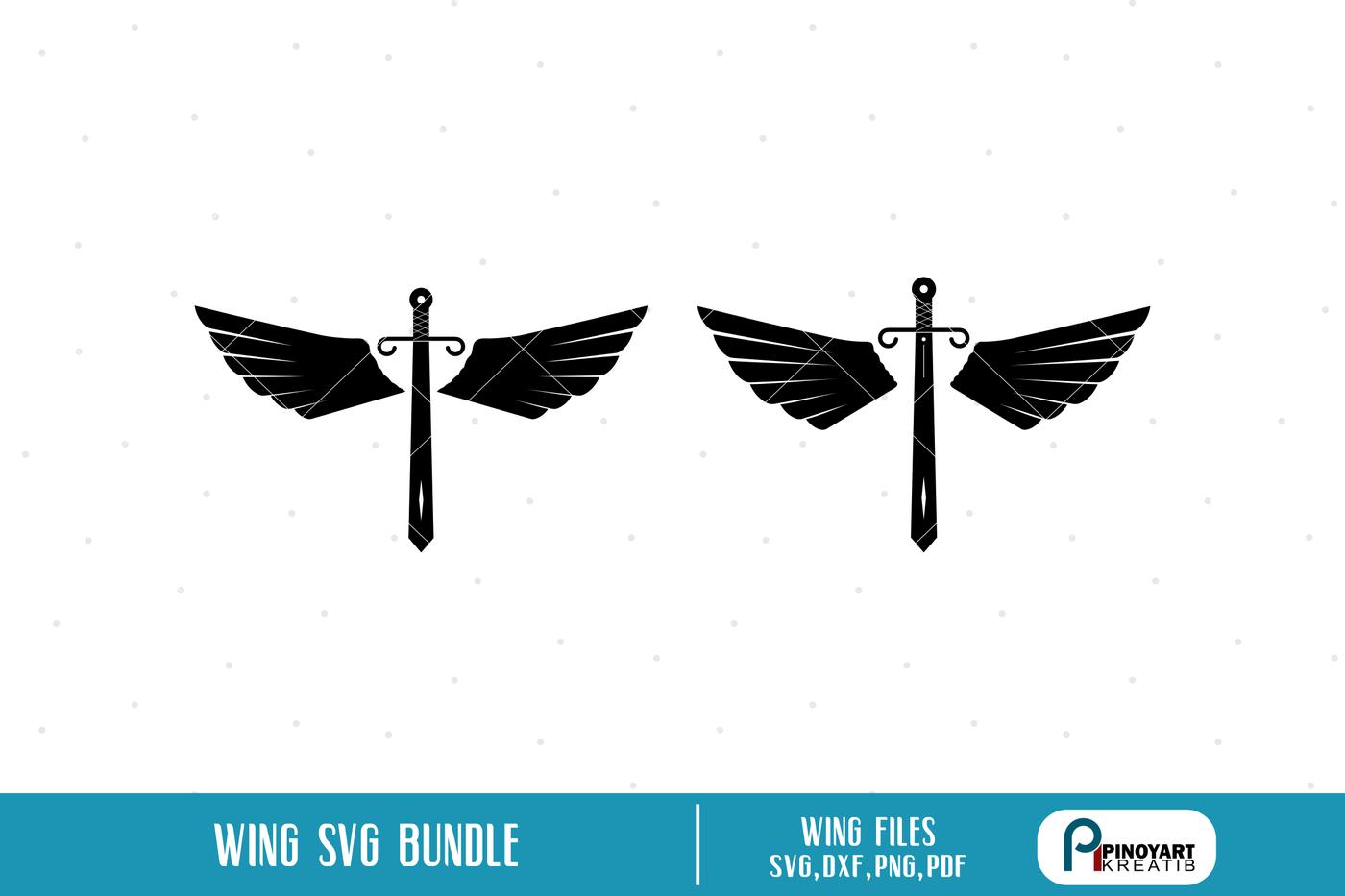 Wing Svg Wings Svg Wing Svg File Sword Svg Sword Svg File Clip