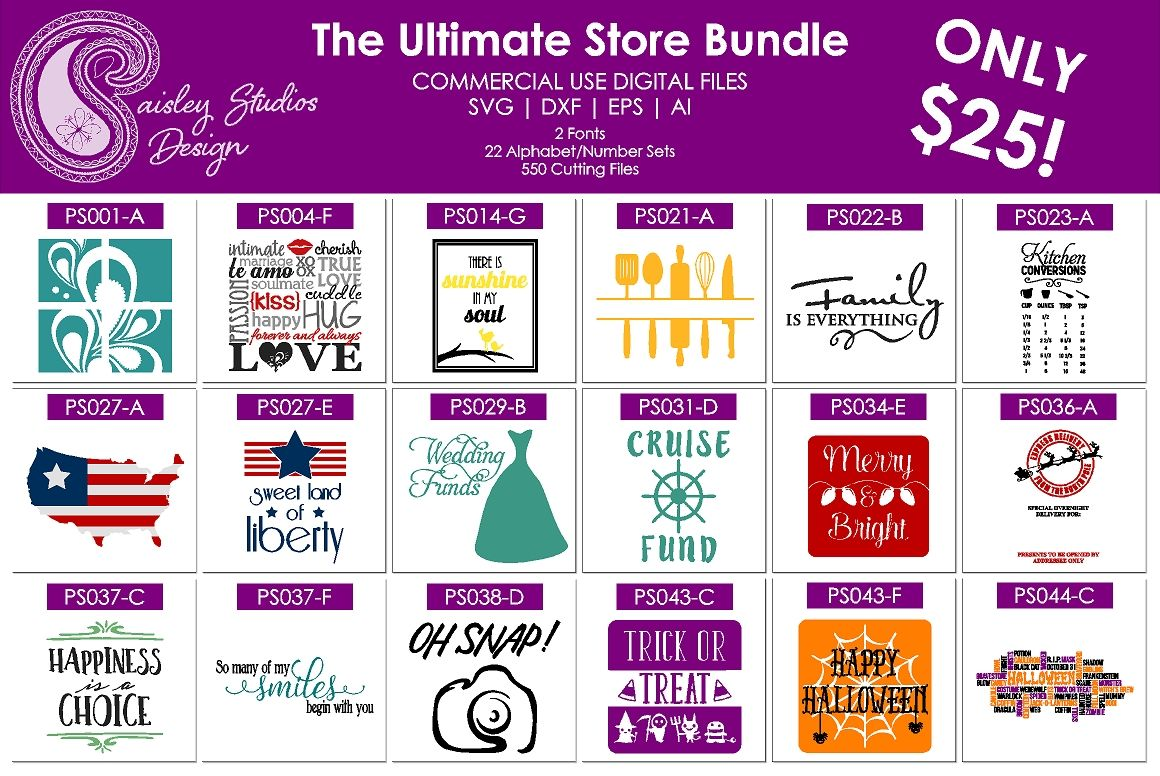 Paisley Studios Ultimate Store Bundle By Paisley Studios Designs