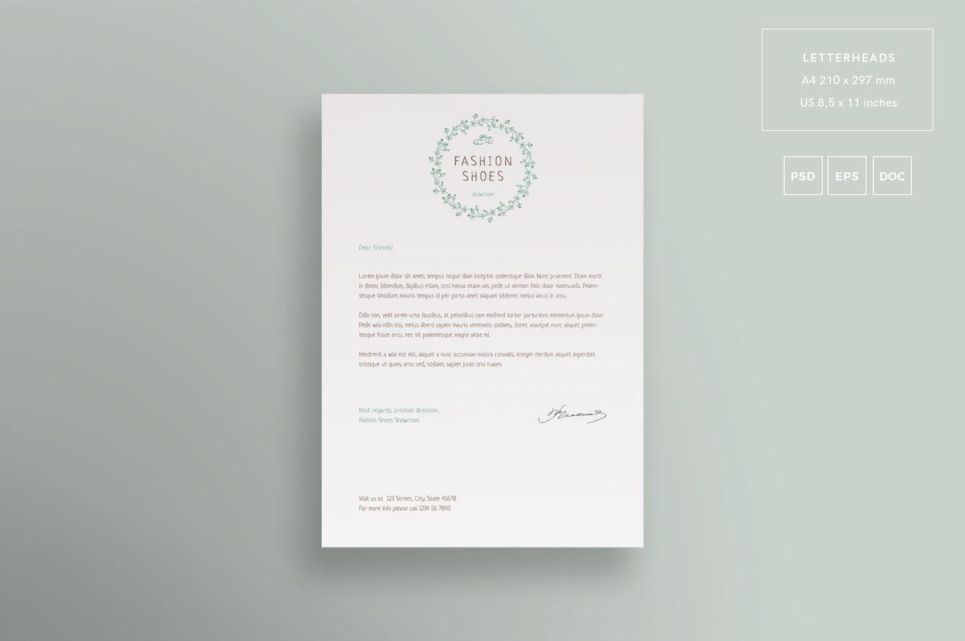A4 Letter Mockup Psd