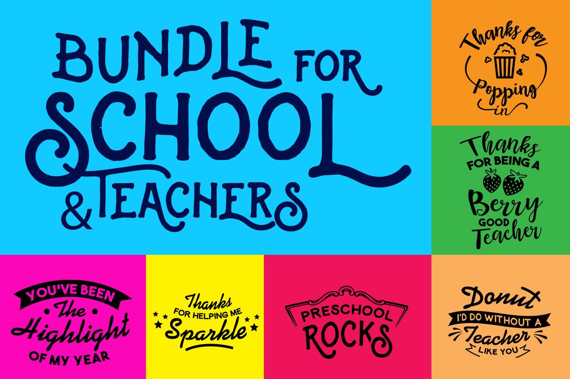 Svg Bundle For School And Teachers By Big Design Thehungryjpeg Com