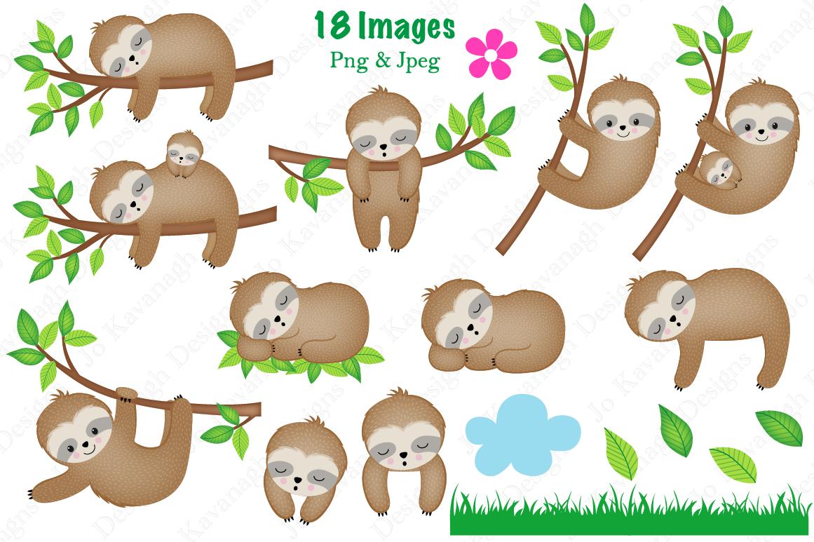 Sloth clipart, Sloth graphics & illustrations, Cute Sloths ...