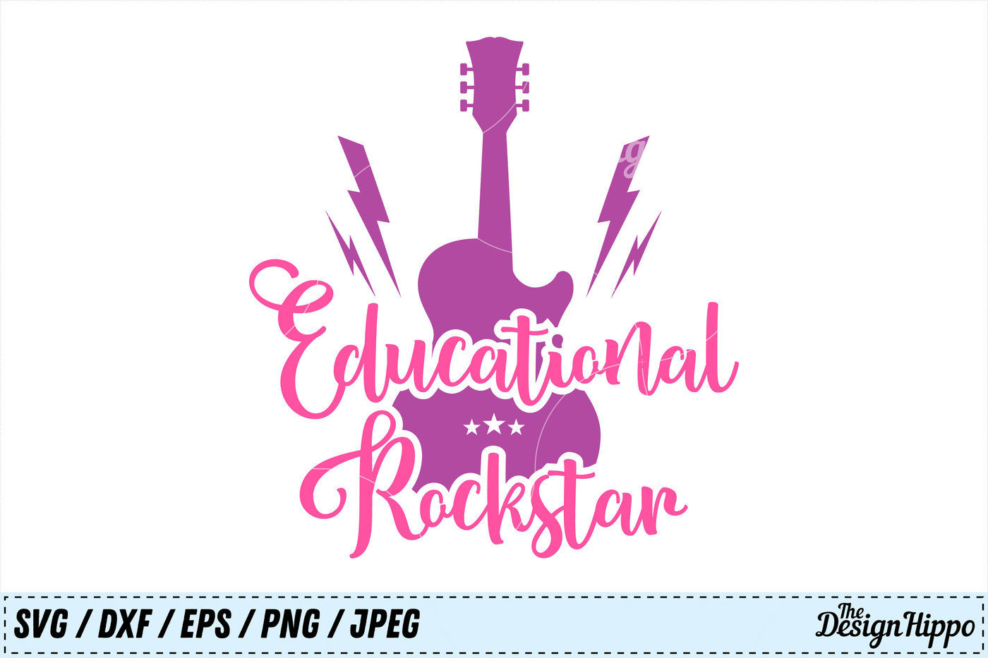 Educational Rockstar Teacher Sayings Back To School Svg Cut