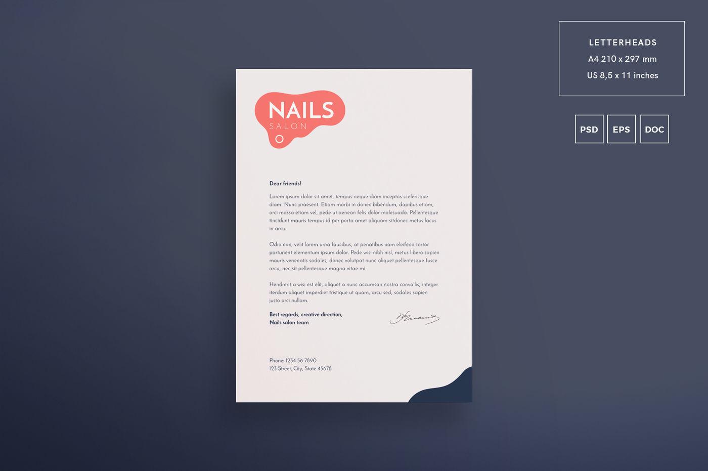Design templates bundle | flyer, banner, branding | Nail