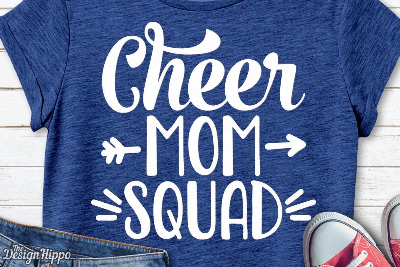 Cheer Mom Squad Svg Cheer Svg Mom Svg Squad Svg Png Dxf Cut