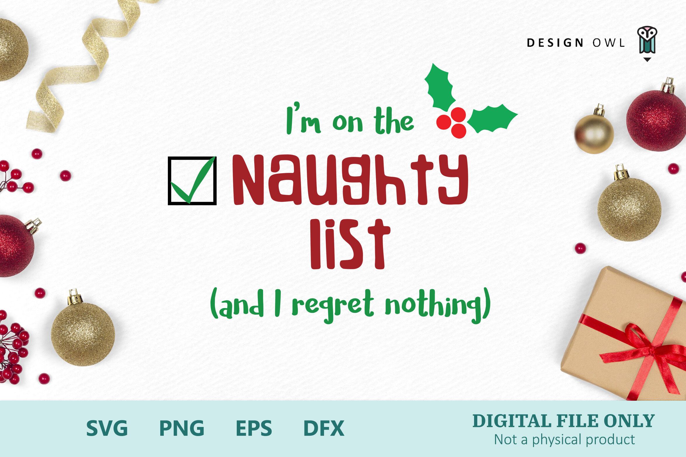 The Naughty List Bundle Svg Png Eps Dfx By Design Owl