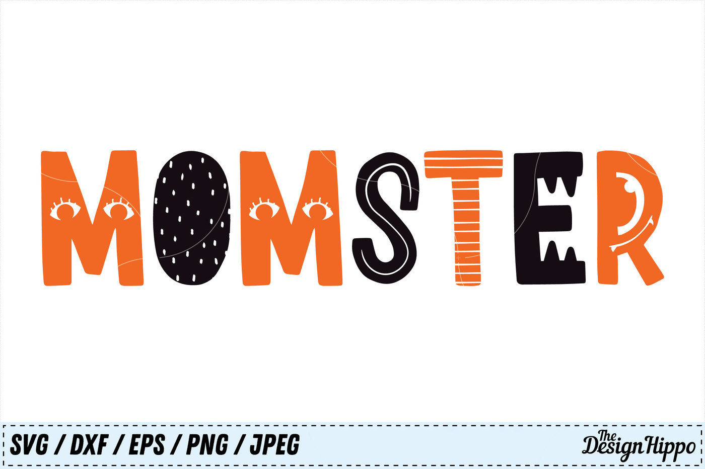 Momster Svg Halloween Svg Mom Svg Monster Svg Png Cricut Cut