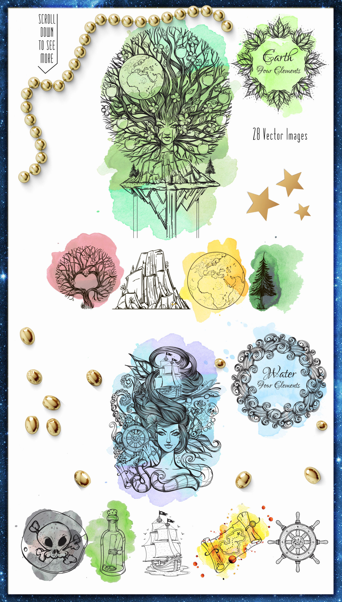 Four Elements By Filkusto Thehungryjpeg Com