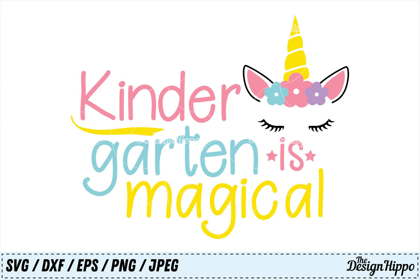 Kindergarten Is Magical Svg Unicorn Back To School Svg Girls