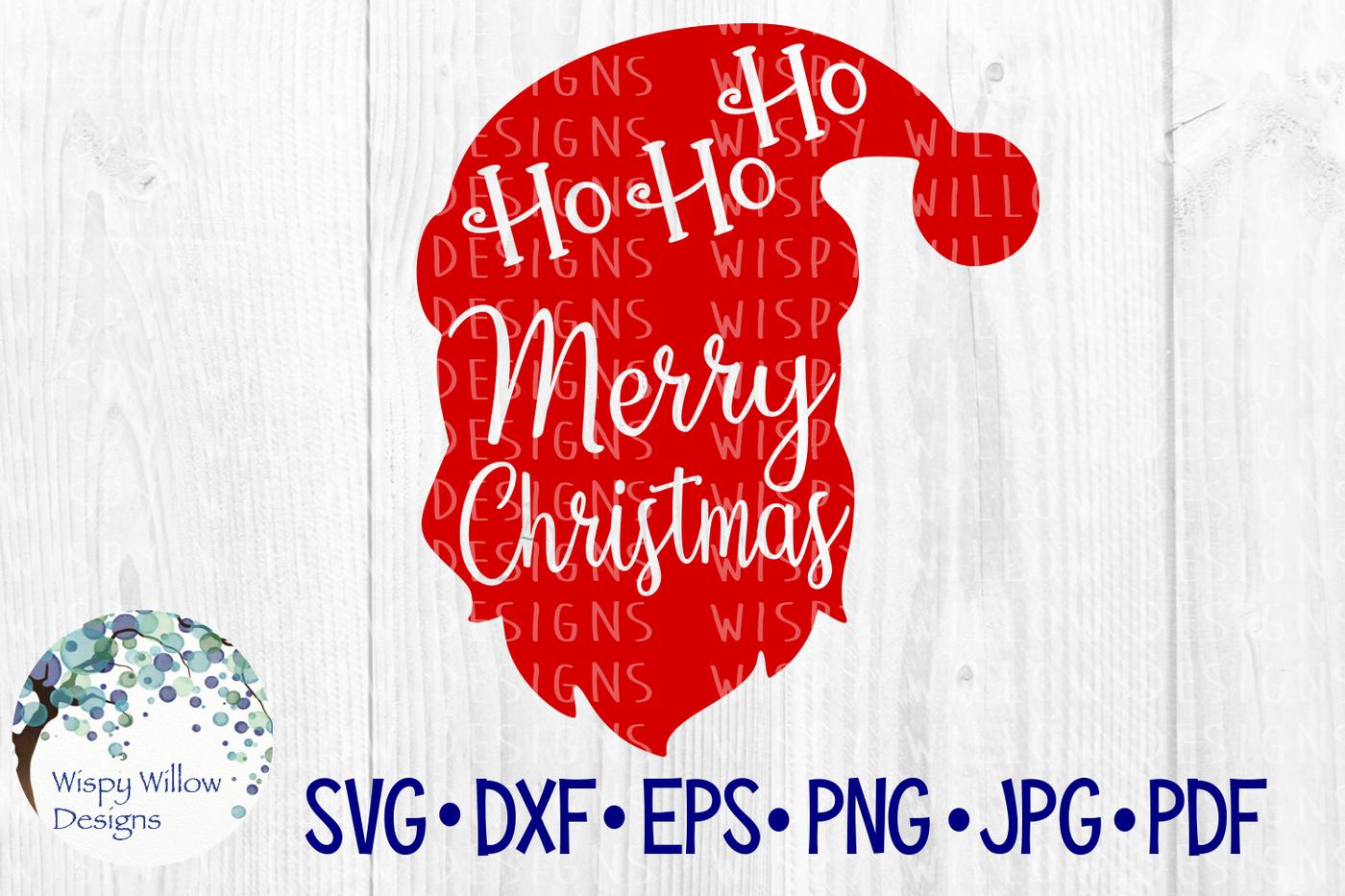 Merry Christmas Santa Ho Ho Ho Svg Dxf Eps Png Jpg Pdf By Wispy