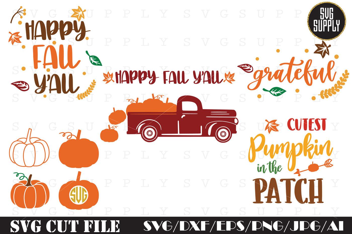 Thanksgiving Set Cut File By Svgsupply Thehungryjpeg Com