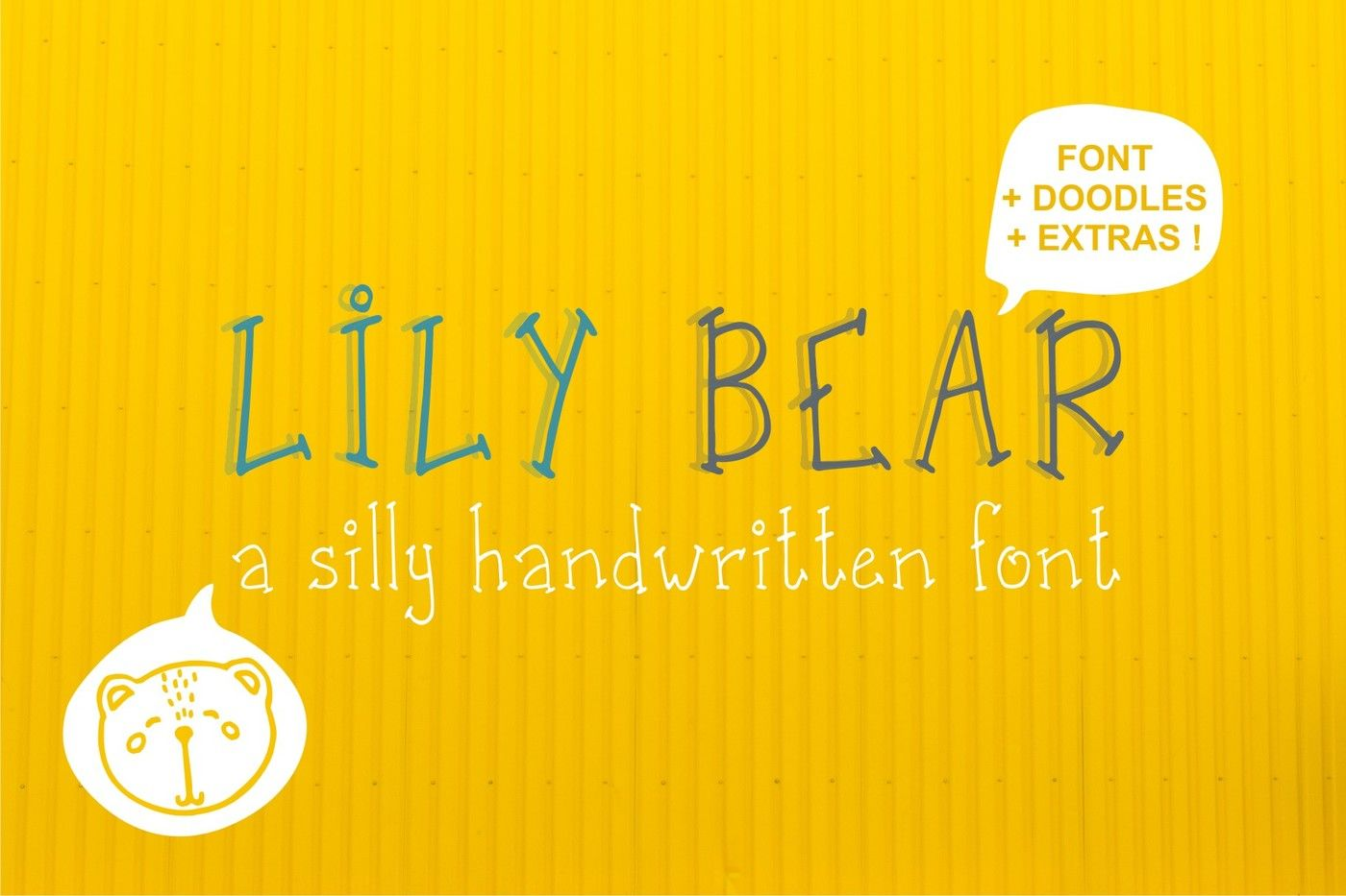 Lily Bear Font Funny Doodles By Godiche Thehungryjpeg Com